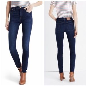 "Madewell 9"" High Riser Skinny Jeans Sz 27"